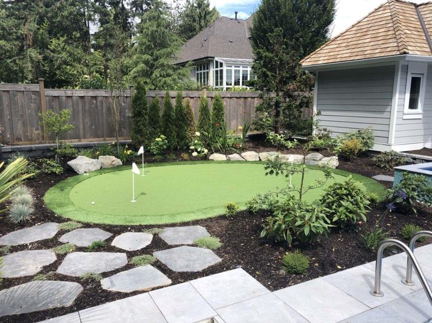 custom backyard putting green artificial turf